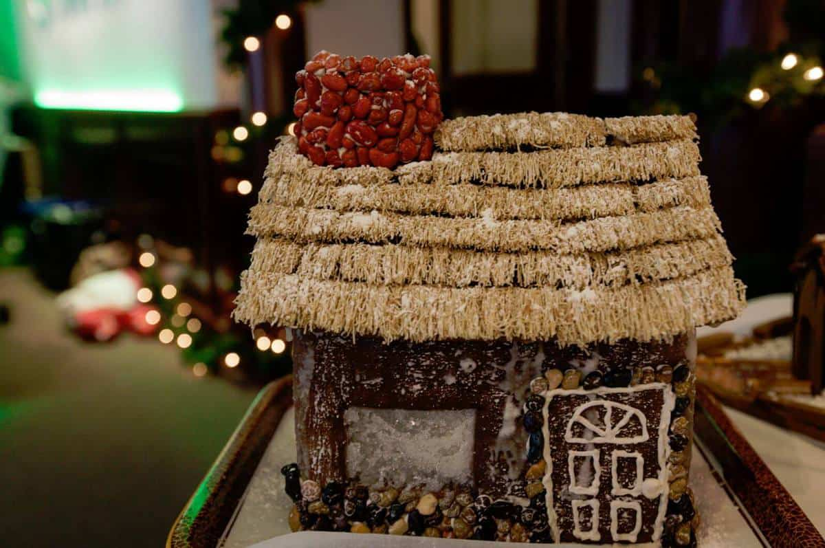 Thatched Gingerbread house